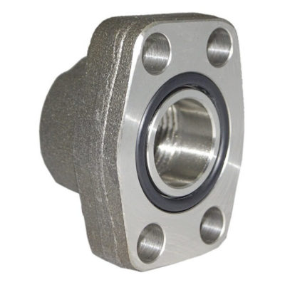 SAE threaded flange O ring side